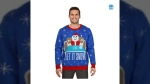 Twitter user @HurrbaSousJohn's screencapture image of the sweater for sale at www.Walmart.ca (source: Twitter / @HurrbaSousJohn)