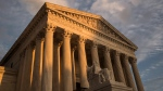 In this Oct. 10, 2017, file photo, the Supreme Court in Washington, at sunset. (AP Photo/J. Scott Applewhite)