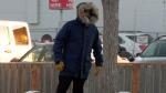 A man walks in Saskatoon on Dec. 10, 2019. (Chad Hills/CTV Saskatoon)