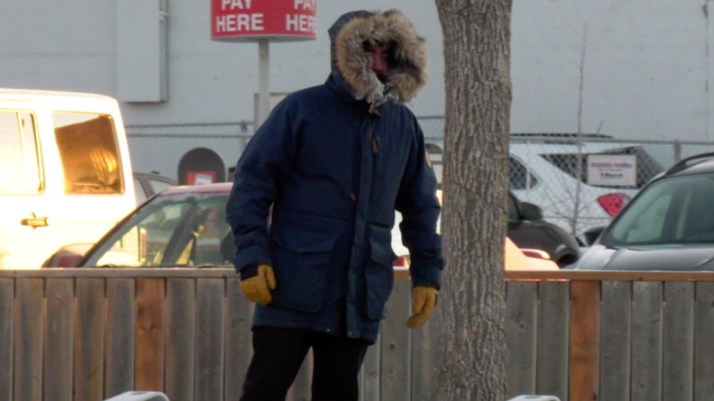 A man walks in Saskatoon on Dec. 10, 2019. (Chad Hills/CTV Saskatoon)