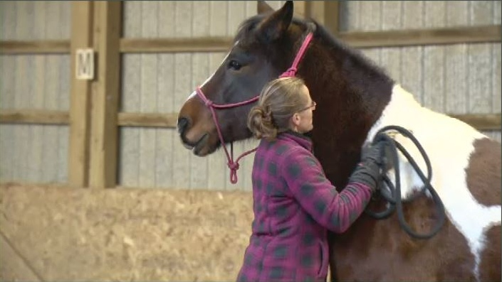 Kristy Falconer and Buddy