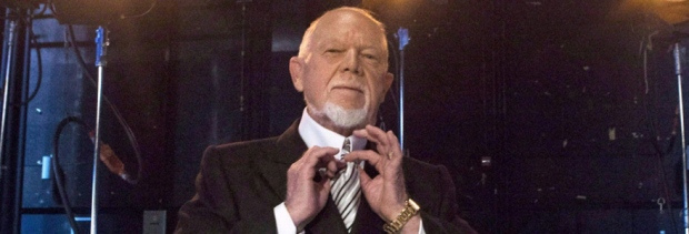 Don Cherry poses for a photo in Toronto