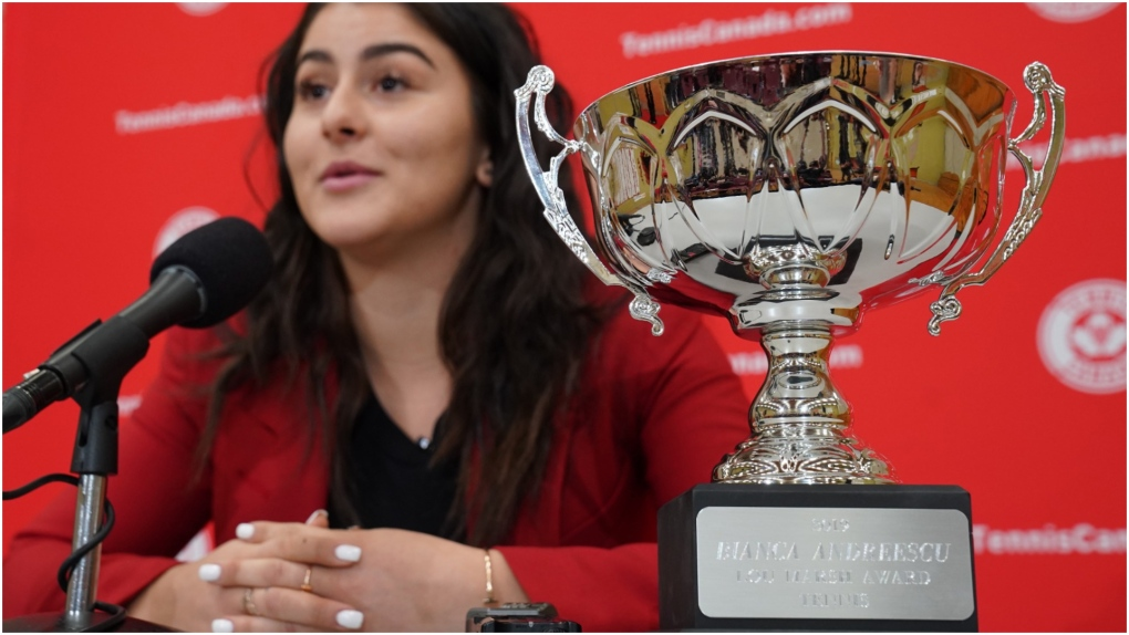 'She the North': Bianca Andreescu receives Canada's athlete of the year trophy