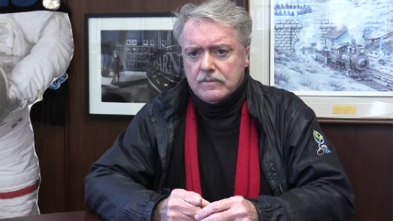 Sarnia Mayor Mike Bradley speaks from his office in Sarnia, Ont. on Tuesday, Dec. 10, 2019. (Brent Lale / CTV London)