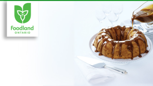 Apple and Pear Bundt Cake with Caramel Glaze