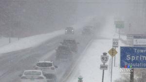 Snow squalls hammer the region