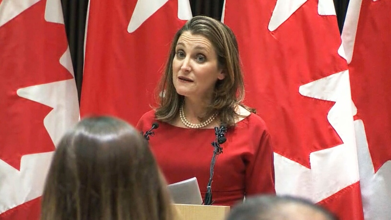 Chrystia Freeland speaks on new NAFTA in Mexico
