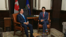 Alberta Premier Jason Kenney and Canadian Prime Minister Justin Trudeau in Ottawa on Tuesday, December 10, 2019