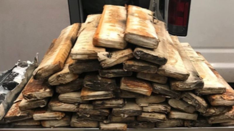 U.S. border agents say they found 268 pounds of 'opium paste' packaged in bricks inside the truck of a man who was trying to pass through the Sault Ste. Marie port on Dec. 7. (WXMI / CNN)