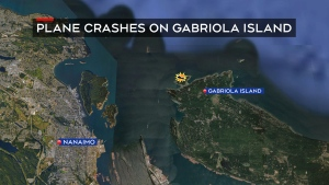 The Transportation Safety Board tells CTV News it was notified of the crash shortly after 7 p.m. (CTV News Vancouver Island)