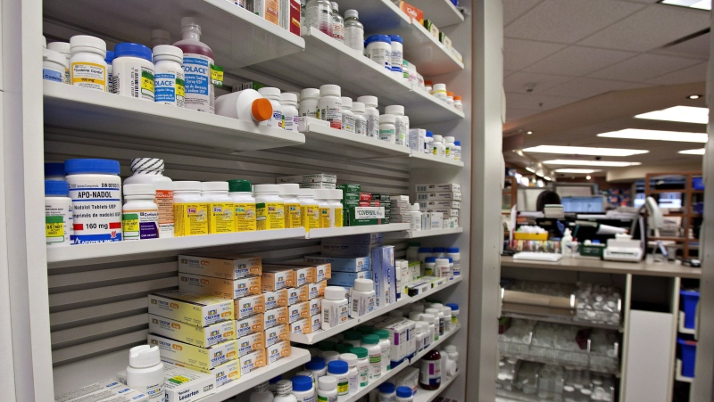 Shelves of medication are seen at a pharmacy in Quebec City, Thursday, March 8, 2012. (THE CANADIAN PRESS/File)