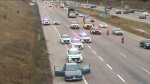 Peel Regional Police have closed multiple lanes on northbound Highway 410 in Brampton due to a police investigation.