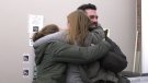 Bear hug between Polar Bear Habitat staff after Cochrane Town Council votes to approve one more year of funding. December 10, 2019 (Lydia Chubak/CTV Northern Ontario)