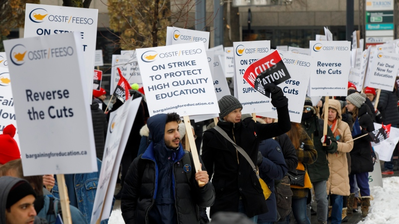 Striking teachers of the Ontario Secondary School