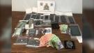 RCMP seized crack cocaine, cash and drug paraphernalia. (Source: Manitoba RCMP)