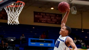 In this photo provided by Wayland Baptist University, Wayland Baptist guard J.J. Culver (10) shoots during an NAIA college basketball game against Southwestern Adventist, Tuesday, Dec. 10, 2019, in Plainview, Texas. (Claudia Lusk/Wayland Baptist University via AP)