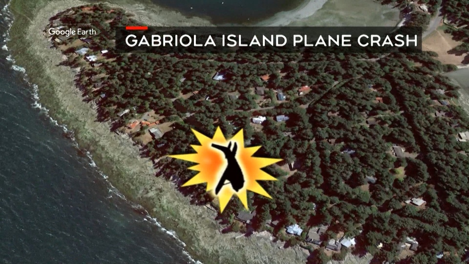 A plane crashed on Gabriola Island Tuesday night.