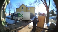 FedEx driver's meltdown captured on doorbell cam