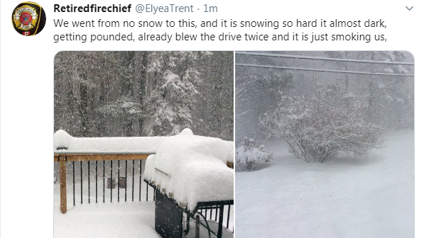 Snow squall warnings remain place for the districts of Parry Sound and Muskoka on Wed., Dec. 11, 2019. (Twitter @Elyea_Trent)