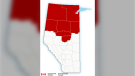 Environment Canada has issued cold and snow warnings for parts of northern Alberta on Wednesday, Dec. 11, 2019. (Environment Canada)