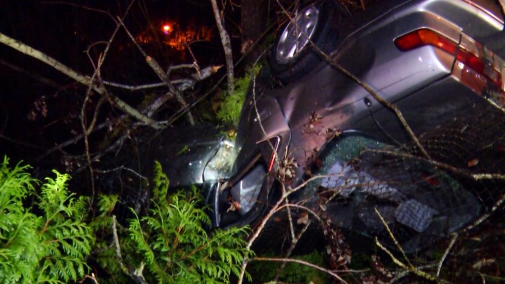 N driver flips car in Abbotsford, fails alcohol screening test