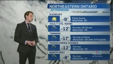 Mix of snow squall warnings and below seasonal temperatures. CTV Northern Ontario's Will Aiello has your 7-day weather forecast.