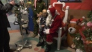 Santa Claus paid a pre-Christmas visit to the Stollery Children's Hospital but didn't rely on his reindeer to get him there.