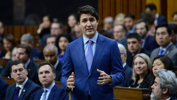 Prime Minister Justin Trudeau answers a question during question period in the House of Commons on Parliament Hill in Ottawa on Wenesday, Dec. 11, 2019. THE CANADIAN PRESS/Sean Kilpatrick