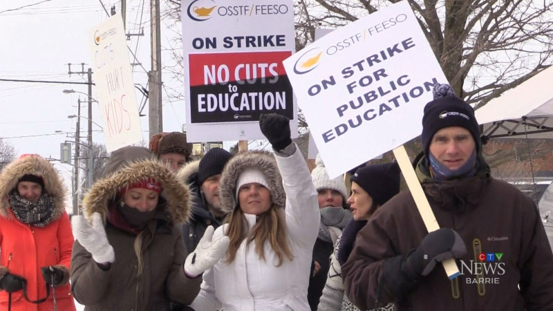 OSSTF members hold one-day strike