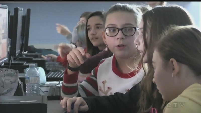 Middle school girls in Timmins test hacking skills