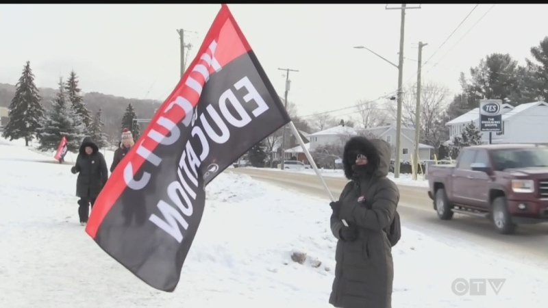One-day strike returns to a North Bay school board