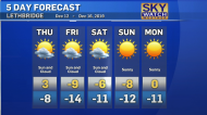 A mini-chinook blows in overnight, then back to minus temperatures for the weekend. Dory Rossiter has the forecast