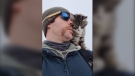 Max Adams found this cold cat during a Movember fundraiser in the High Prairie area and adopted it.