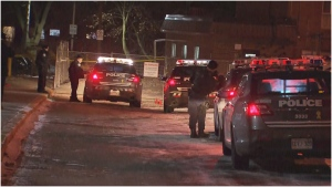 A man in his 20s is dead after a shooting in North York Wednesday night. (CTV News Toronto/Peter Muscat)