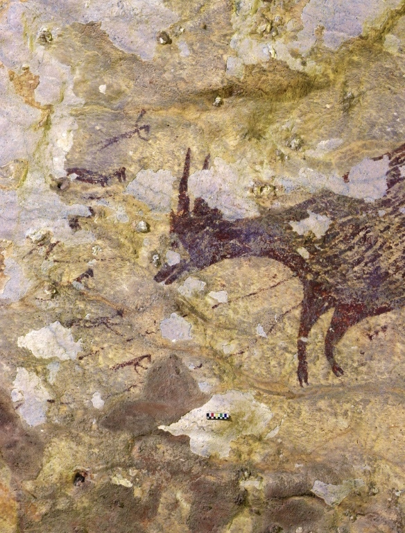 For many years, cave art was thought to have emerged from Europe, but Indonesian paintings have challenged that theory. (AFP)