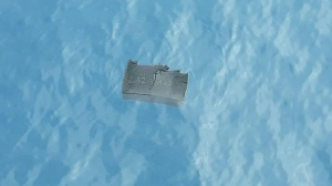 A piece of debris believed to be from the missing plane is shown in this Chilean Air Force photo. (AFP)