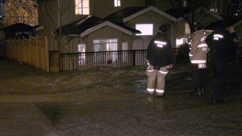 Homes were flooded in Burnaby Thursday morning after a water main broke.