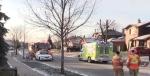 A woman was struck by a vehicle on Ferndale Avenue in London, Ont. on Thursday, Dec. 12, 2019. (Gerry Dewan / CTV London)