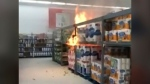 Boy charged with starting fire at Walmart