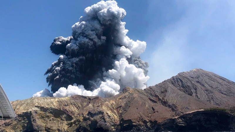 New Zealand volcanic eruption