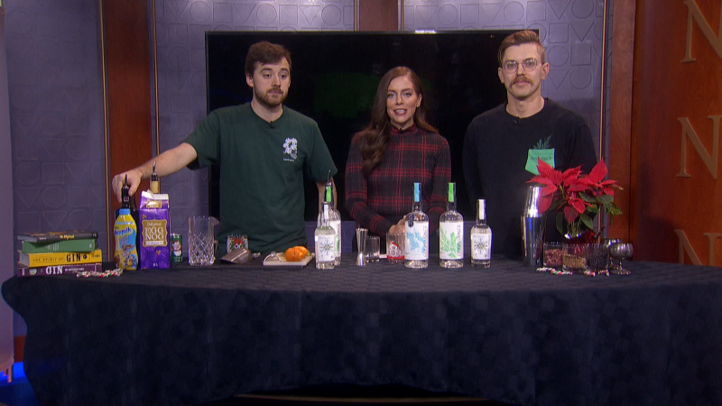 Now that the holiday party season is in full swing, we'll show you how to make some festive cocktails