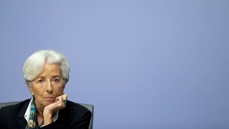 President of European Central Bank Christine Lagarde in Frankfurt, Germany, on Dec. 12, 2019. (Michael Probst / AP)