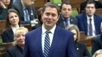 Conservative Leader Andrew Scheer announces that he will step down as the party's leader, in the House of Commons, Thursday, Dec. 12, 2019.