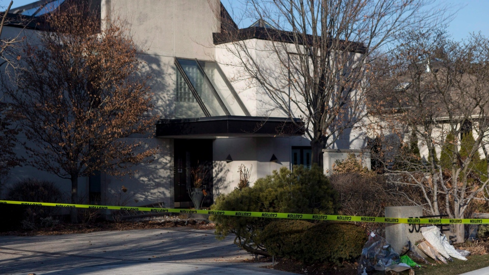 A general view of the Toronto home of Barry and Honey Sherman on Friday, January 26, 2018. THE CANADIAN PRESS/Chris Young