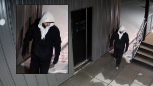 Voyeur spotted in Sandy Hill caught on camera.