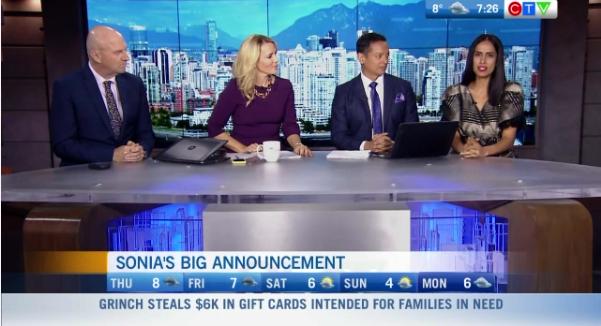 Sonia Beeksma leaves CTV Vancouver