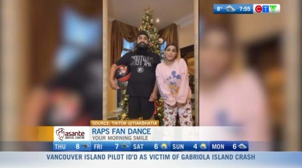 Raps fan dance funny video