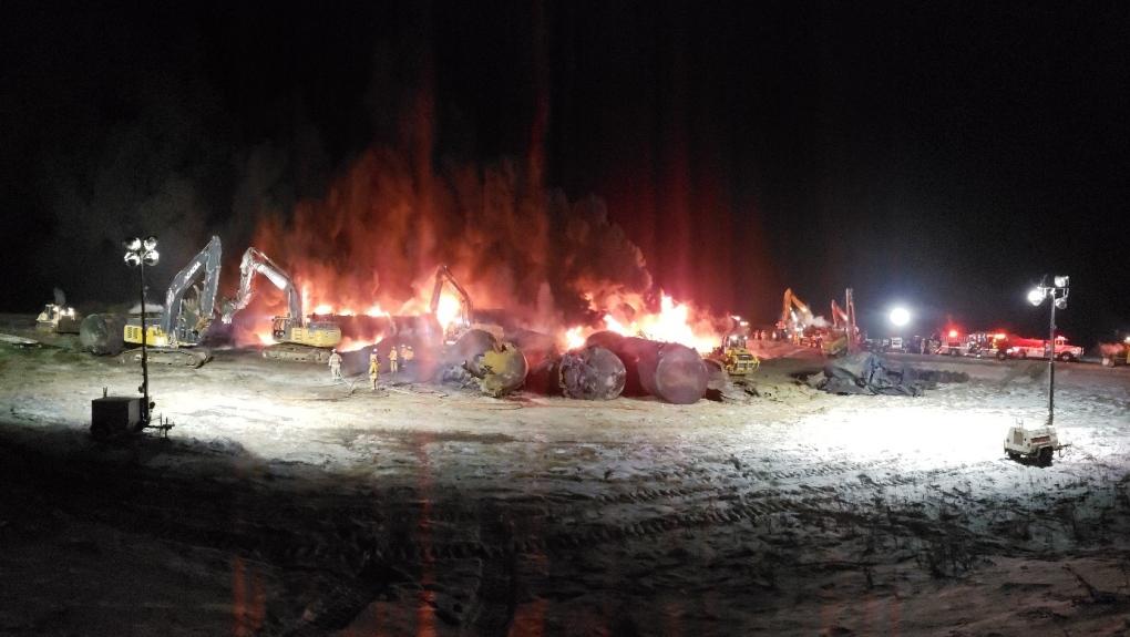 1.5M litres of crude oil spilled in Sask. train derailment, investigation finds