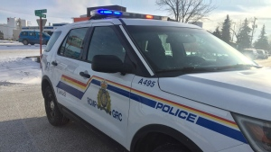 An RCMP vehicle is seen in Kindersley on Dec. 12, 2019. (Laura Woodward/CTV Saskatoon)