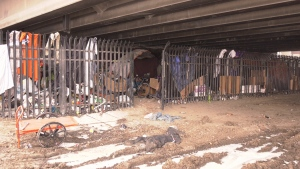 A group of people who were living under the Osborne Street Bridge are speaking out after Winnipeg police officers evicted them from their camp due to dangerous conditions caused by open power lines.
